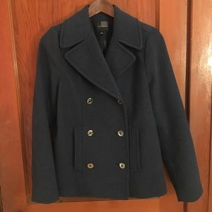 The Limited navy pea coat